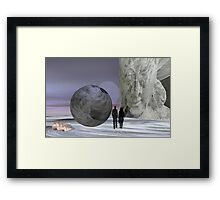 Meeting Buddha Framed Print