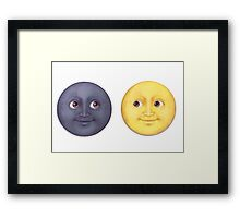 Moon and Sun Framed Print