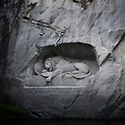 Lion Monument - Lucerne, Switzerland by Laura Sanders