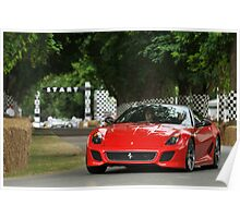 Ferrari 599 GTO at Goodwood Poster