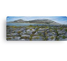 Mullaghmor, The Burren, County Clare - oil painting Canvas Print