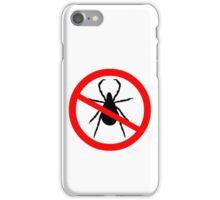Beware of Ticks Symbol iPhone Case/Skin
