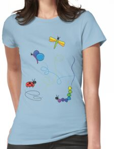 bug tracks Womens Fitted T-Shirt