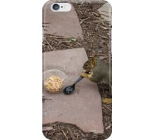 Squirrel Grabbing Grub iPhone Case/Skin