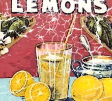 king tut lemons Sticker