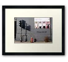 Montreal - The shadow of the light. Framed Print