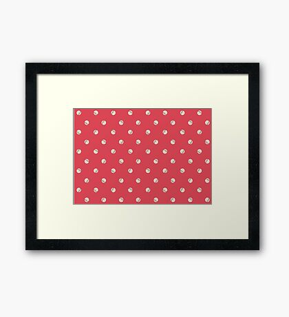 Premier Balls Red Framed Print