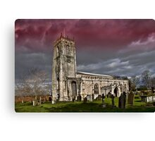 The priory church of St. Mary and St. Martin Canvas Print