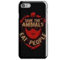save the animals, EAT PEOPLE iPhone Case/Skin