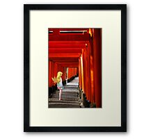 Monogatari – Shinobu Shrine Framed Print