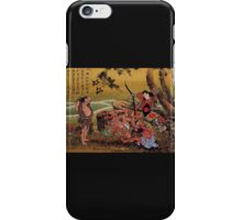 'Tametomo On Demon Island' by Katsushika Hokusai (Reproduction) iPhone Case/Skin
