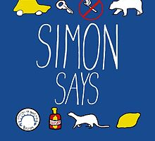 Simon Says Sticker (White Lettering) by thatbekkahgirl