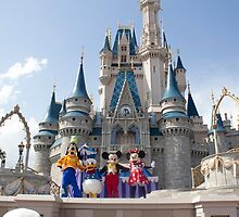 Mickey and the Gang in Magic Kingdom by ralovins