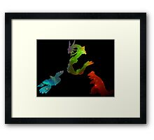 Pokemon- Clash of the Three Titans Framed Print