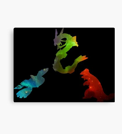 Pokemon- Clash of the Three Titans Canvas Print