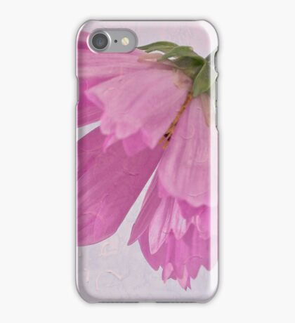 Pink Cosmo Flower And Bud iPhone Case/Skin