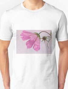 Pink Cosmo Flower And Bud T-Shirt