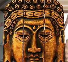Buddhas face by Dirk Pagel