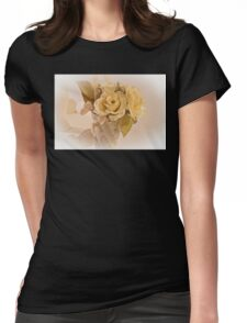 Roses And Butterfly Posy  Womens Fitted T-Shirt