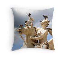 Statue Above Place de la Concorde Paris Throw Pillow
