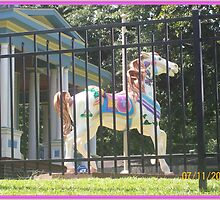 horses painted throughout the town of Mrdn Ms. by photofun29