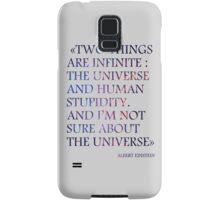 Albert Einstein Quote #2 Samsung Galaxy Case/Skin
