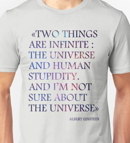 Albert Einstein Quote #2 (Space Nebula) Unisex T-Shirt