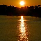 Sunset on the Lake by Caren