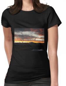 Sunset in the Rocky Mountain National Park Womens Fitted T-Shirt
