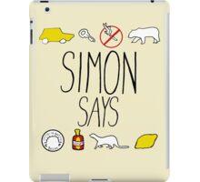 Simon Says (Black Lettering) iPad Case/Skin
