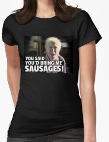Love And Sausages Womens Fitted T-Shirt