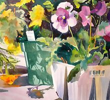 Jumbo Pansies and Marigolds by Kay Smith