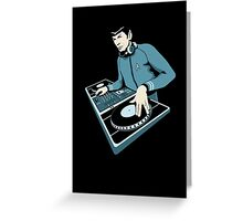 Cool Spock DJ party Greeting Card