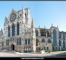 Tourist Free York Minster Panorama. by Kevin Bailey