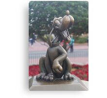 Bronze Disney Figure of Pluto Canvas Print
