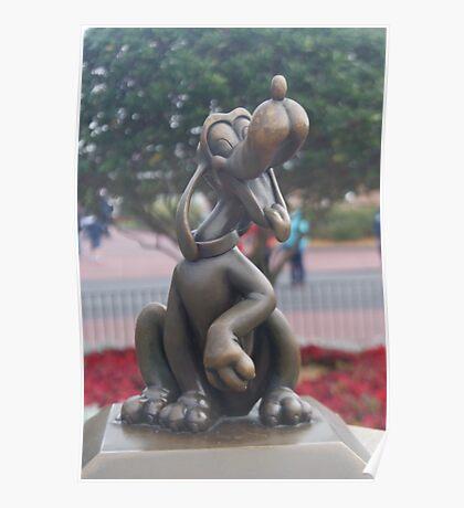 Bronze Disney Figure of Pluto Poster