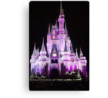 Cinderella Castle at night in Magic Kingdom, Florida Canvas Print