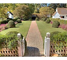 Garden Path at Wythe House Photographic Print