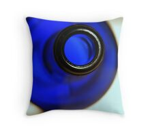 blue bottle Throw Pillow