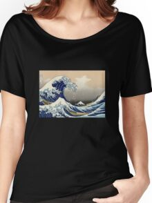 'The Great Wave Off Kanagawa' by Katsushika Hokusai (Reproduction) Women's Relaxed Fit T-Shirt