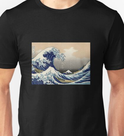 'The Great Wave Off Kanagawa' by Katsushika Hokusai (Reproduction) Unisex T-Shirt