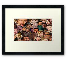 robert downey jr. collage Framed Print