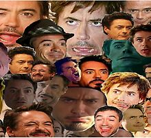 robert downey jr. collage by tboye