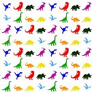 Colourful Dinosaurs Pattern by jezkemp
