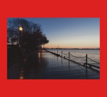 Wet Boardwalk - a Clear Morning After the Rain Baby Tee