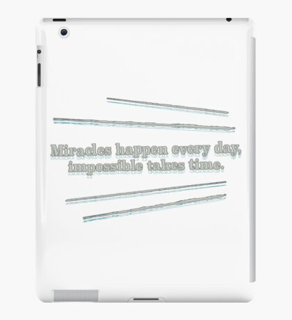 slogan iPad Case/Skin