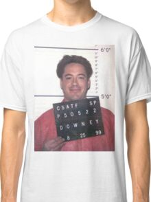 robert downey jr. mugshot Classic T-Shirt