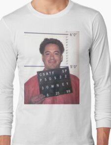 robert downey jr. mugshot Long Sleeve T-Shirt