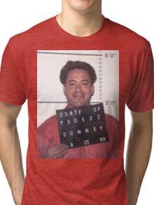 robert downey jr. mugshot Tri-blend T-Shirt