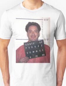 robert downey jr. mugshot Unisex T-Shirt